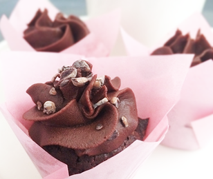 Mini-brownie cupcakes