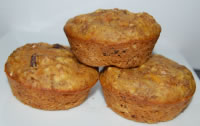 Sunne gulrotmuffins