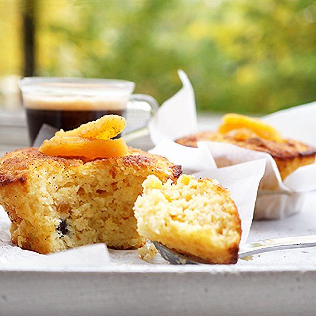 Aprikos-cupcakes