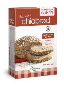 chiabrød fiberrik brødmiks uten gluten