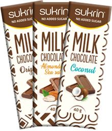 sukrinsjokolade uten sukker